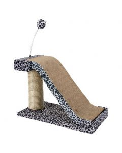 PET BRANDS Scratching Post Beige With Paw 46 In