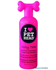 Pet Head Dirty Talk Spearmint Lemongrass Deodorizing Dog Shampoo 475 ml