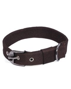 Pets Like Polyster Collar Brown 32 mm Large
