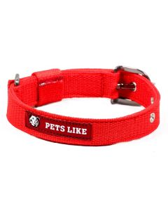 Pets Like Polyster Collar Red 25 mm Medium