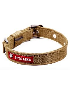 Pets Like Polyster Collar Army Green 25 mm Medium