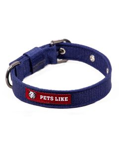 Pets Like Polyster Collar Navy Blue 25 mm Medium