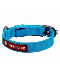 Pets Like Polyster Collar Sky Blue 20 mm Small/Puppy