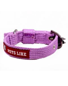 Pets Like Polyster Collar Purple 20 mm Small/Puppy