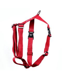Pets Like Polyster Full Harness Maroon Large