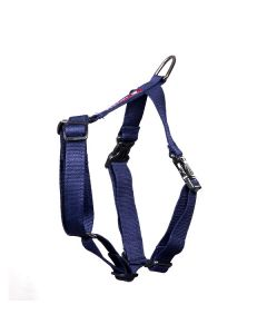 Pets Like Polyster Full Harness Navy Blue Medium