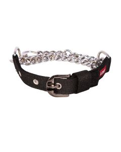 Pets Like Polyster Choke Collar Black Medium 25 mm