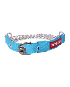 Pets Like Polyster Choke Collar Sky Blue Small 20 mm