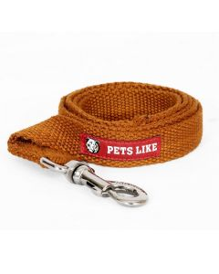Pets Like Spun Polyster Leash Brown Medium 25 mm