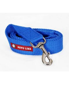 Pets Like Spun Polyster Leash Royal Blue Large 38 mm