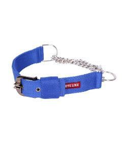 Pets Like Polyster Choke Collar Royal Blue Extra Large 38 mm
