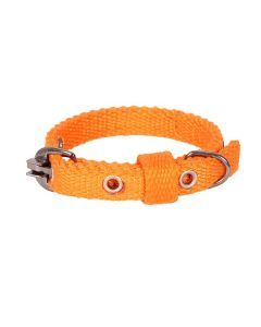Pets Like Spun Polyster Collar Orange 15 mm Small/Puppy