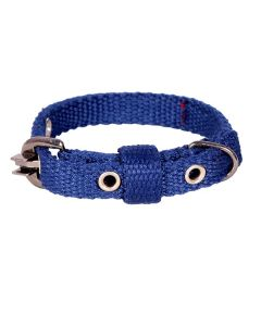 Pets Like Spun Polyster Collar Navy Blue 15 mm Small/Puppy