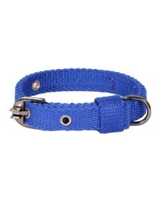 Pets Like Spun Polyster Collar Royal Blue 20 mm Small/Puppy