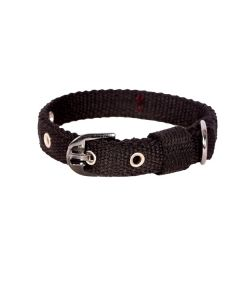 Pets Like Spun Polyster Collar Royal Black 20 mm Small/Puppy