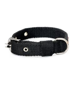 Pets Like Spun Polyster Collar Black 25 mm Medium