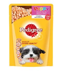 Pedigree Puppy Chicken Chunks flavour in Gravy 70 gms