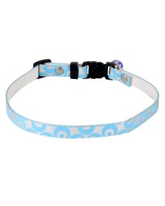 Petsworld High Quality Durable Adjustable Printed Pet Soft Collar for Puppy - Cats - Kitten Blue