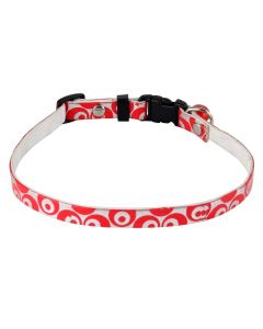 Petsworld High Quality Durable Adjustable Printed Pet Soft Collar for Puppy - Cats - Kitten Red