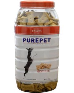 DROOLS PurePet Biscuit 500gm Chicken Flavour-JAR