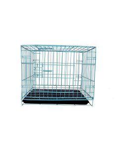 Petsworld High Quality Durable Single Door Folding Metal Crate (Cage) for Dog and Cat with Removable Tray 70 cm (28 Inches)