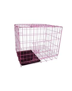 Petsworld High Quality Durable Single Door Folding Metal Crate (Cage) for Dog and Cat with Removable Tray 105 cm (42 Inches)