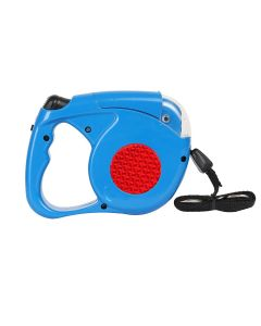 Petsworld Retractable Dog Leash with Detachable Flashlight Led Torch for Pets (Blue)