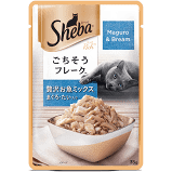 Sheba Premium Wet Cat Food Food, Fish Mix (Maguro & Bream), 35g Pouch