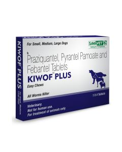 Savavet Kiwof Dewormer for Dogs 10  Tablets
