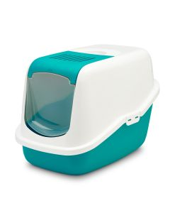 Savic Nestor Cat Toilet White and Mint Green - LxBxH : 22x15.5x15