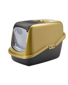 SAVIC Nestor Cat Toilet Gold-Black