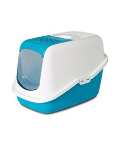 SAVIC Nestor Cat Toilet White Retro Blue