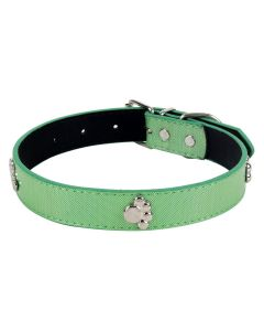 Petsworld High Quality Adjustable Shinning Collar for Dog-1 Inch (Green)