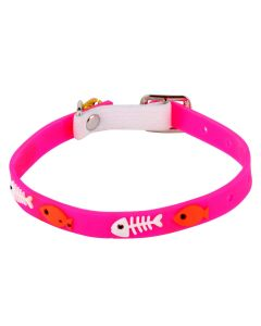 Petsworld High Quality Classic Solid Color Soft Silicon Adjustable Puppy - Cats - Kitten Collar - Pink