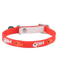 Petsworld High Quality Classic Solid Color Soft Silicon Adjustable Puppy - Cats - Kitten Collar - Red