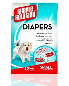 Simple Solution Pet Diapers 12 Diapers Couches Small