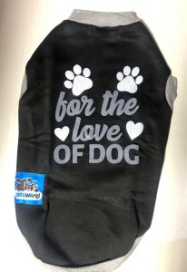 Petsworld  T Shirts for Dogs Black  Size 16