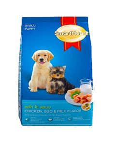 Smartheart Puppy Dog Food Chicken, Egg and Milk Flavour 1.5 kg