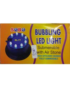 Sobo Bubbling LED Light Submersible With Air Stone RL - 77