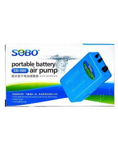 Sobo Portable Battery Aquarium Air Pump SB-980
