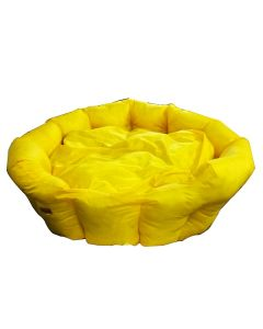 Petsworld Soft Round Waterproof Bed for Dog Yellow Small