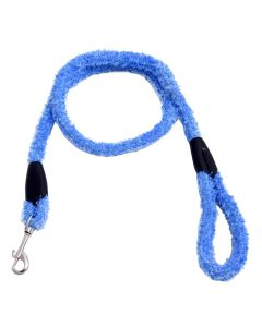 Petsworld Extra Soft Grip Fur Dog Leash With Brass Snap Hook Blue