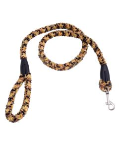 Petsworld Extra Soft Grip Fur Dog Leash With Brass Snap Hook Yellow