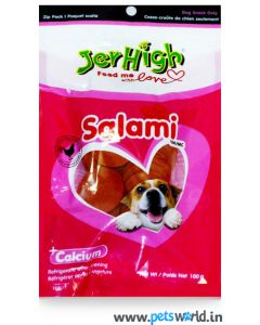 Jerhigh Dog Treats Salami 100 gms