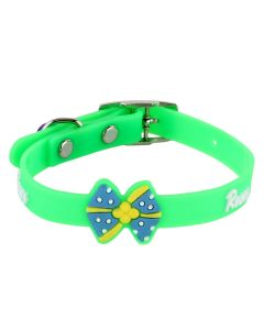 Petsworld High Quality Stylish Adjustable Soft Collar for Puppy & Cats - Green