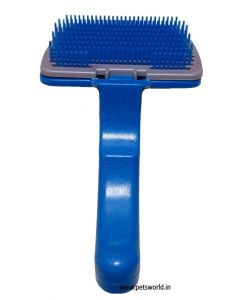 Petsworld Self-cleaning Dog Slicker Brush (Small)