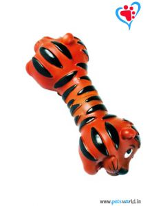 Petsworld Tiger Dumbell Squeaky Dog Toy