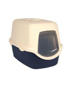 Trixie Vico Cat litter Tray With Dome Blue/White - LxBxH : 23x16x16 inch