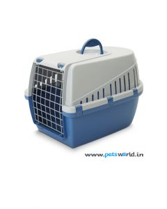 Savic Dog Carrier Trotter 1 Atl. Blue/Light Grey X-Small L x W x H : 19 x 13 x 12 inch