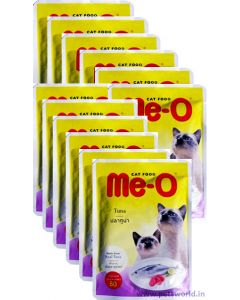 Meo Tuna Gravy Pouch Cat Food 12 Pcs